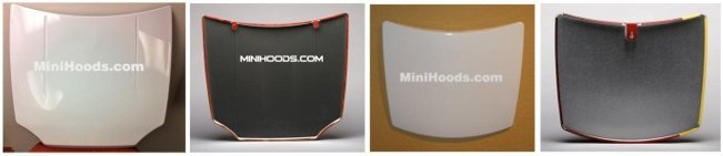 Blank metal mini hoods